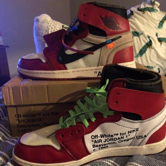Jordan Shoes Offwhite 1 Chicago Poshmark